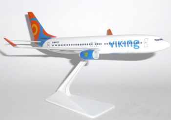 Boeing 737-800 Viking Airways Desktop Model Scale 1:200 Snap Fit Type Collectors Model E